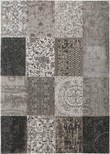 tapijt Louis De Poortere AV 8101 Vintage Black White