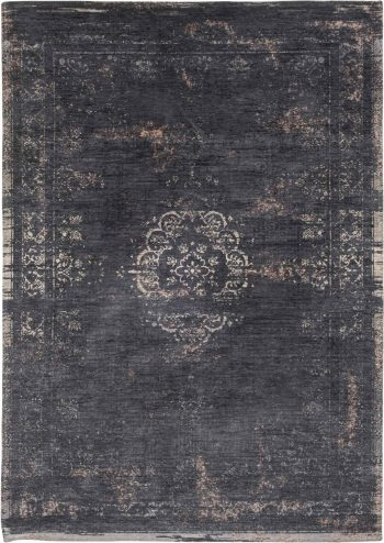 tapijt Louis De Poortere AV 8263 Fading World Medaillon Mineral Black