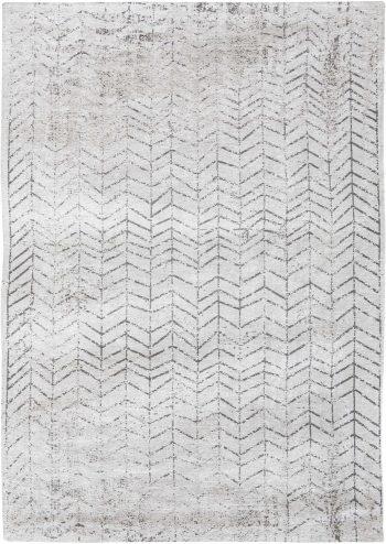 tapijt Louis De Poortere AV 8652 Mad Men Jacobs Ladder Black on White