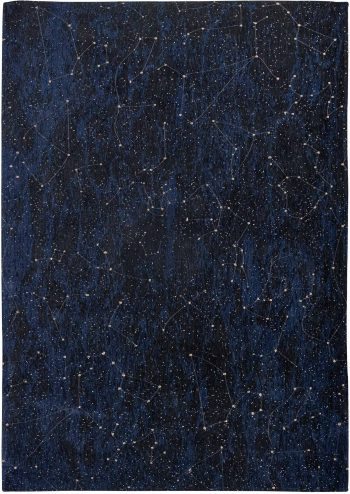 Louis De Poortere tapijt Fischbacher 9060 Celestial Midnight Blue